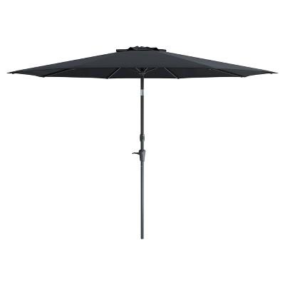 7u0027 Wind Resistant Tilting Patio Umbrella   Black   CorLiving : Target
