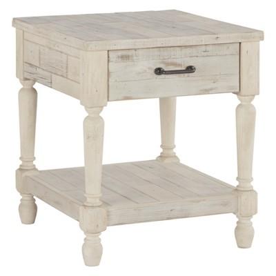 Shawnalore Rectangular End Table White - Signature Design by Ashley
