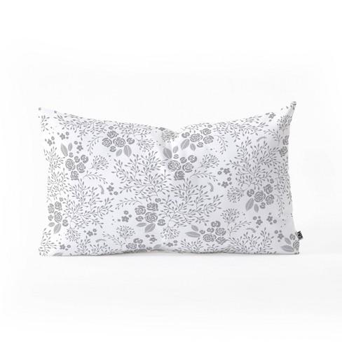 "23""x14"" Iveta Abolina Camellia Garden Oblong Throw Pillow White - Deny Designs - image 1 of 2"