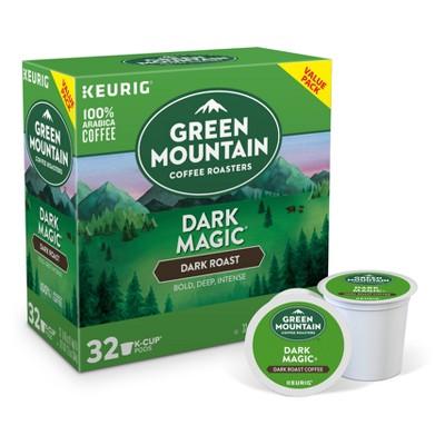 Green Mountain Coffee Dark Magic Keurig Single-Serve K-Cup Pods, Dark Roast Coffee, 32ct