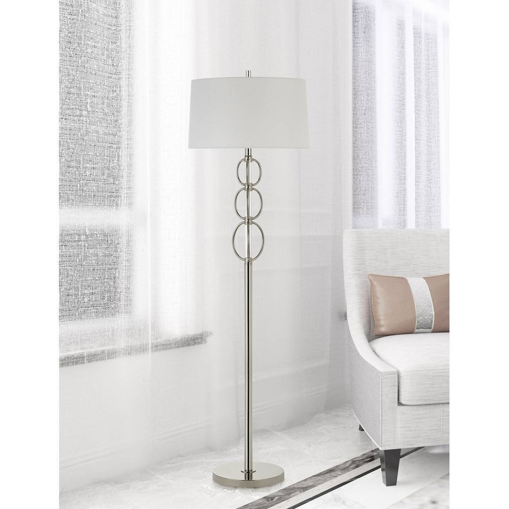 Image of 150W 3 Way Bree Metal Floor Lamp Chrome - Cal Lighting
