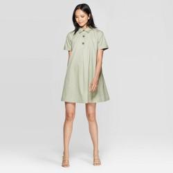 Women's Short Sleeve Collared Trapeze Mini Shirtdress - Who What Wear™