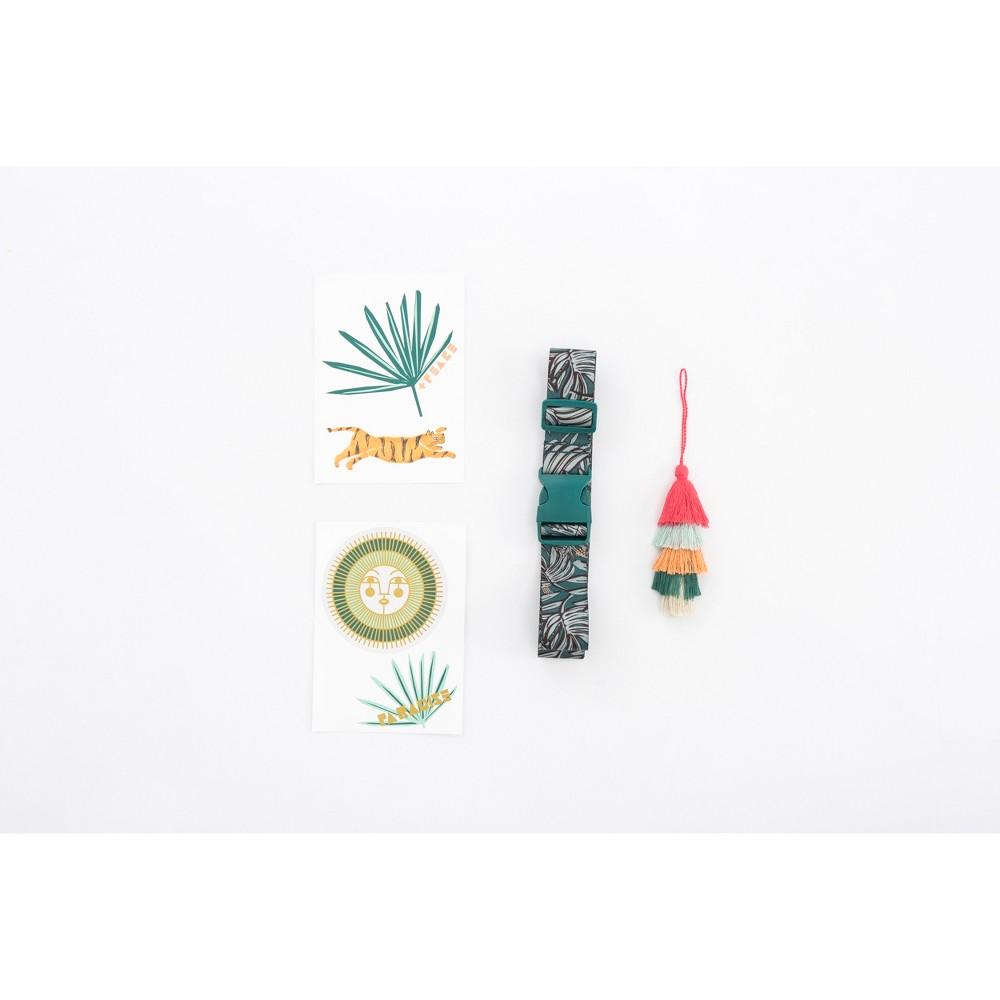 Jungalow by Justina Blakeney Luggage Flair Luggage Tag Set - 6pc, Green
