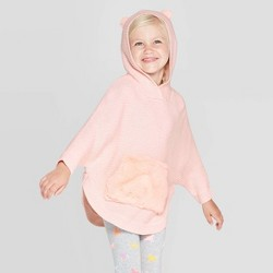 Toddler Girls' Critter Poncho Sweater - Cat & Jack™ Light Pink