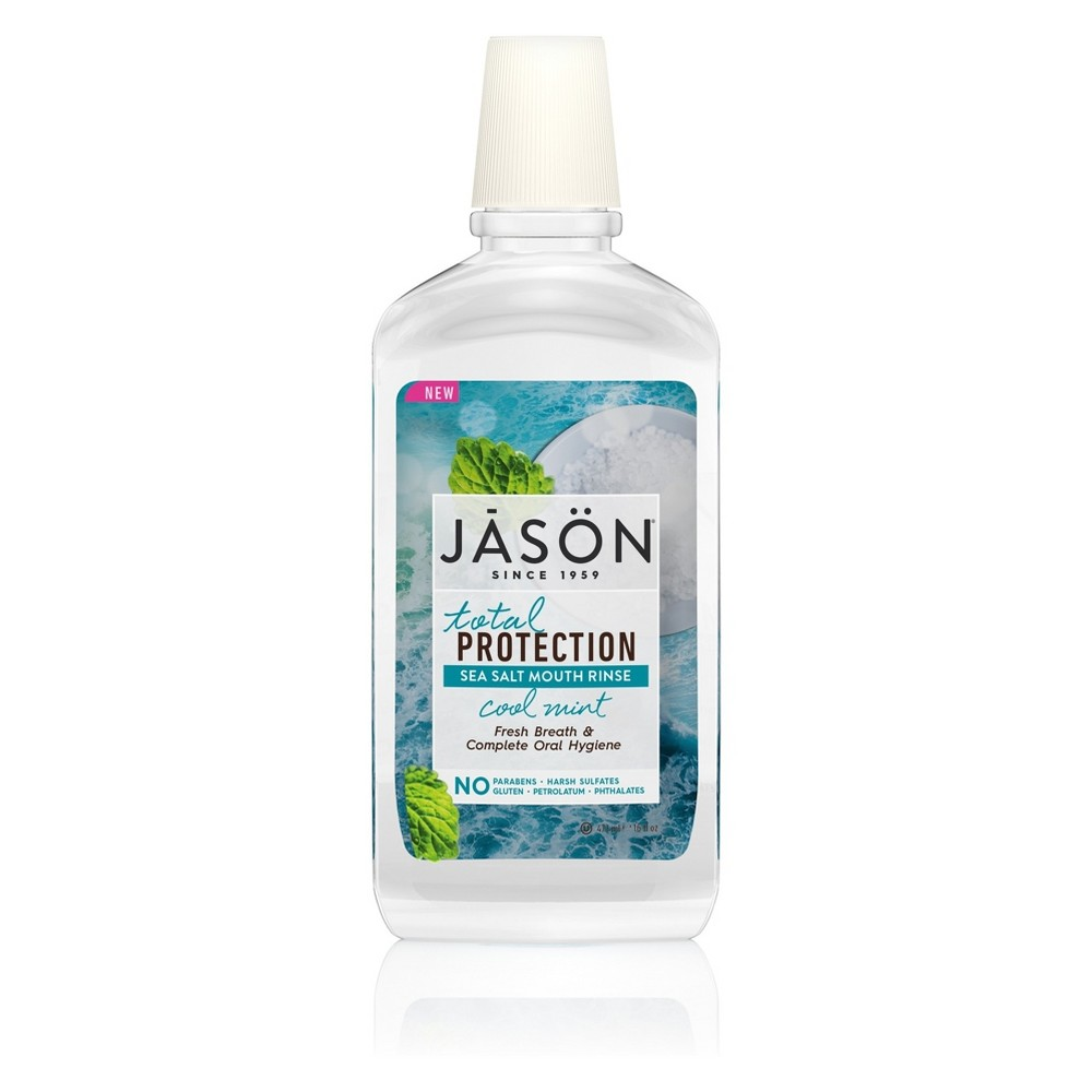 Jason Total Protection Sea Salt Mouth Rinse Cool Mint - 16oz