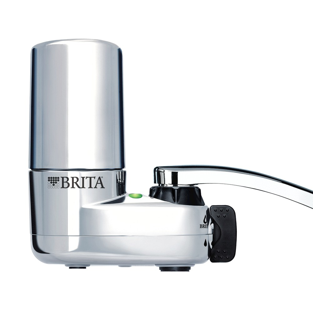 Brita Tap Water Faucet Filtration System BPA Free – Chrome (Grey) 526285