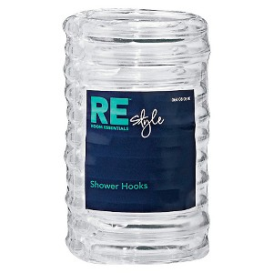 Plastic Shower Hooks Clear - Room Essentials