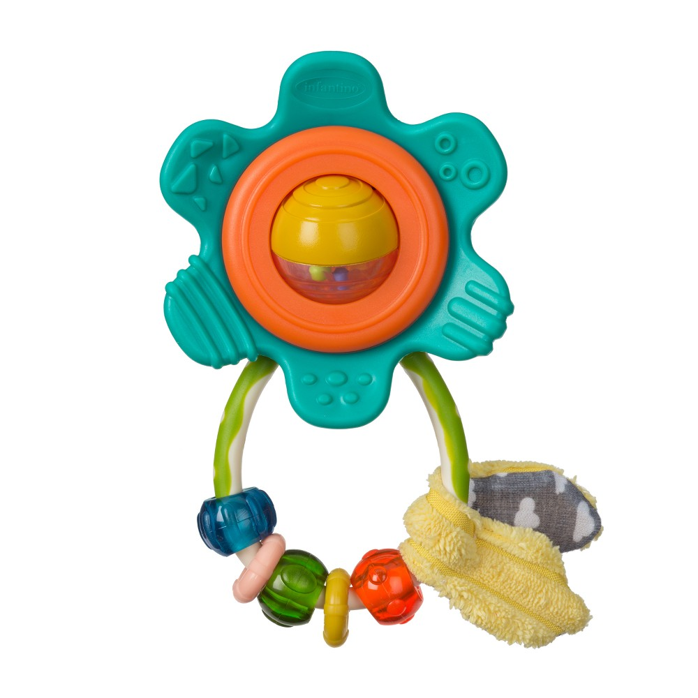 Image of Infantino GaGa Flower Rattle, Multi-Colored