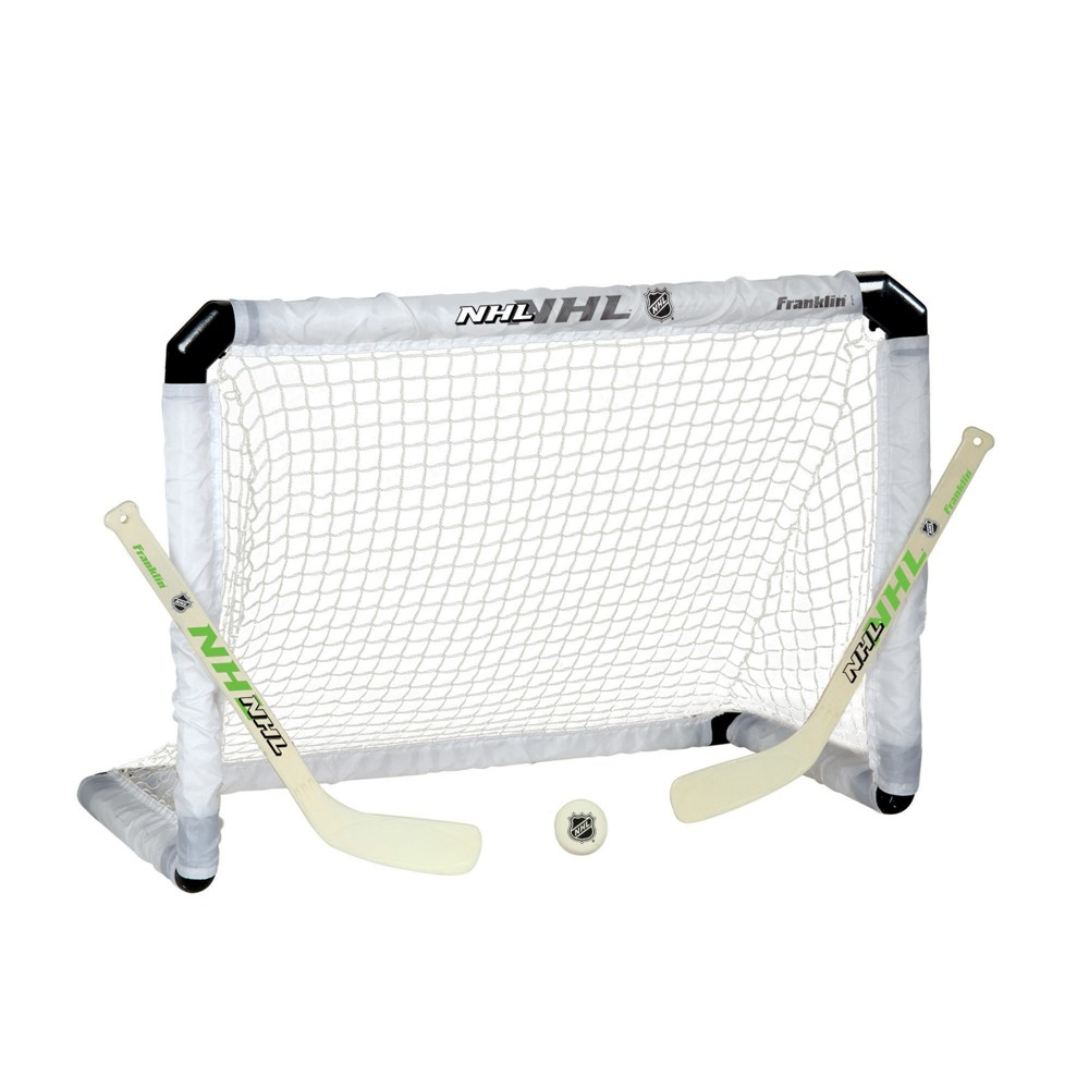 Franklin Sports Street Hockey Light-Up Goal Stick and Ball Set, Gray
