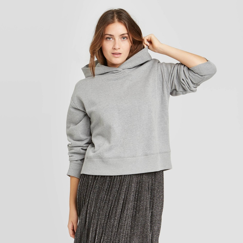 Women 39 S Hooded All Day Fleece Sweatshirt A New Day 8482 Gray Xxl