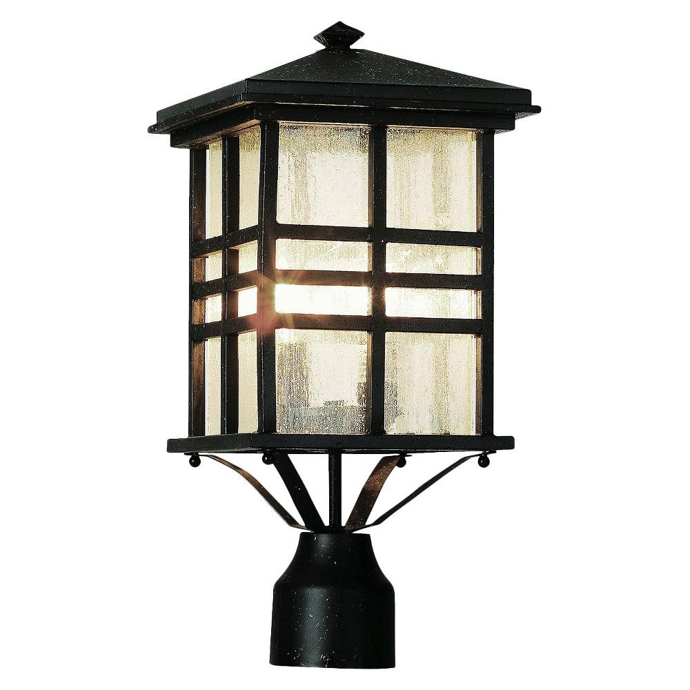 Japanese Garden 16 Post Top Lantern in Black