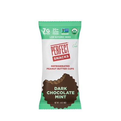 Perfect Snacks Peanut Butter Dark Chocolate Mint Cups - 2pk