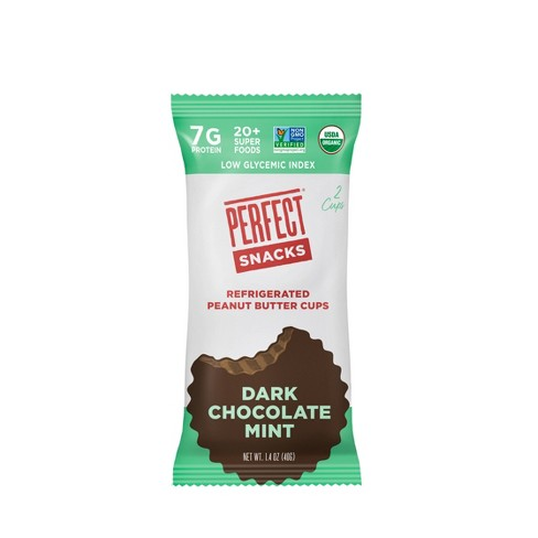 Perfect Snacks Peanut Butter Dark Chocolate Mint Cups - 2pk - image 1 of 4