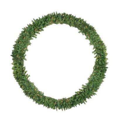 Northlight Pre-Lit Buffalo Fir Artificial Christmas Wreath - 72-Inch, Clear Lights