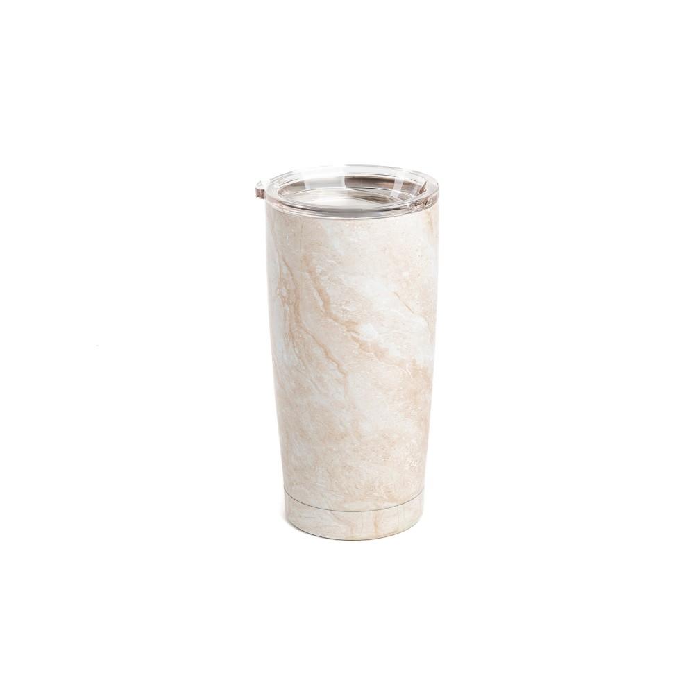 18.5oz Vacuum Insulated Portable Coffee To-Go Tumbler Cream, Sour Cream