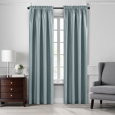 Colette Faux Silk Blackout Window Curtain Panel - Elrene Home Fashions