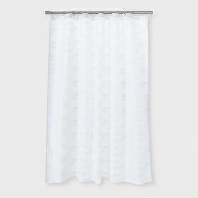 Herringbone Woven Shower Curtain Winter White - Project 62™