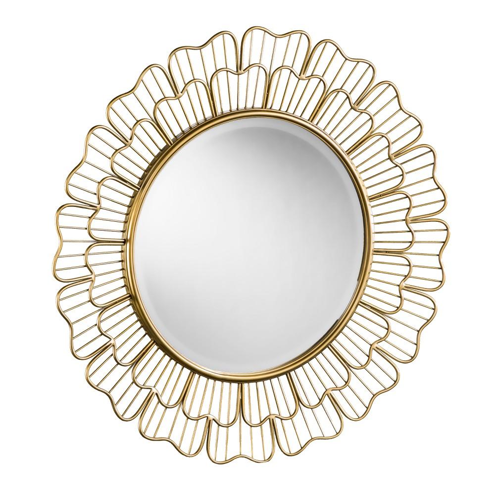 "Image of ""Aiden Lane 32.5""""x32.5"""" Pictara Oversized Round Decorative Wall Mirror Bronze"""
