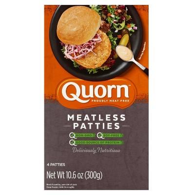 Quorn Frozen Meatless Patties - 4ct/10.6oz
