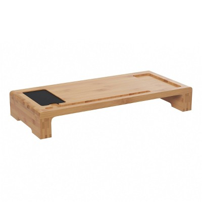 Bamboo Monitor Stand and Desk Organizer - Hastings Home