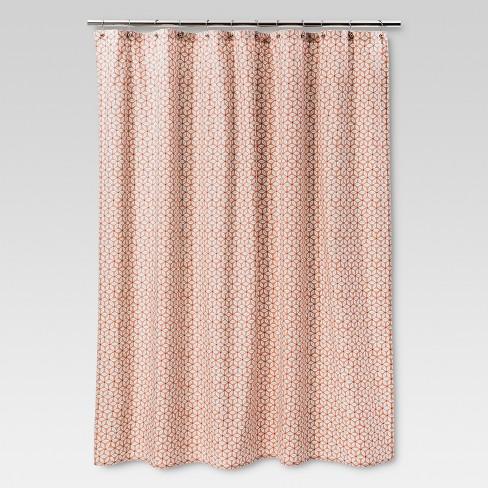 Shapes Shower Curtain Peach Threshold