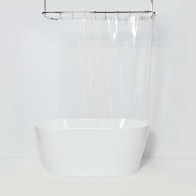 "54""x78"" Six Gauge PEVA Shower Liner Stall Clear - Made By Design™"