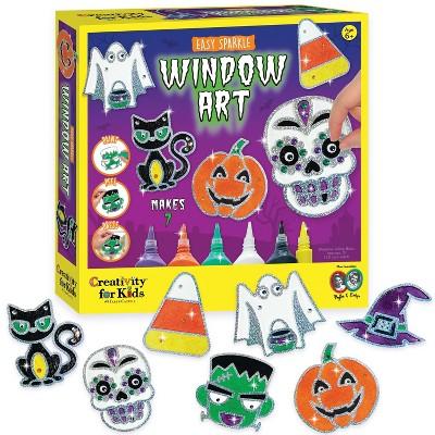 Halloween Easy Sparkle Window Art - Creativity for Kids