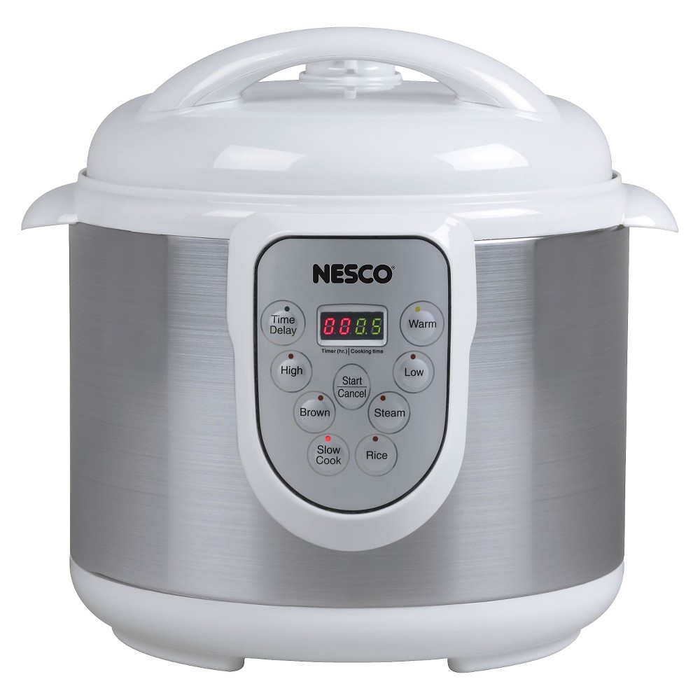 Image of Nesco 6 Liter 4-in-1 Pressure Cooker, Black