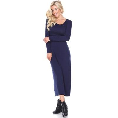 Women's Ria Long Sleeve Maxi Dress - White Mark