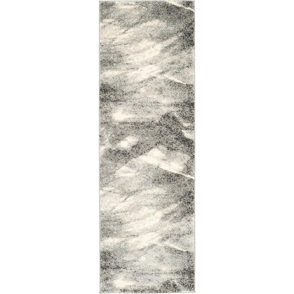 2'3X19' Marble Loomed Runner Gray/Ivory - Safavieh