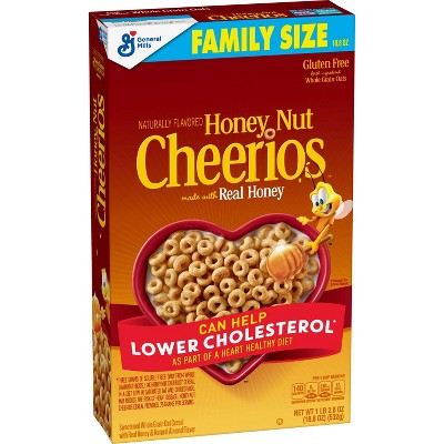 General Mills Family Size Honey Nut Cheerios Cereal - 18.8oz