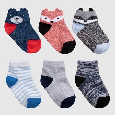 Toddler 6pk Bear Print Low Cut Socks - Cat & Jack™