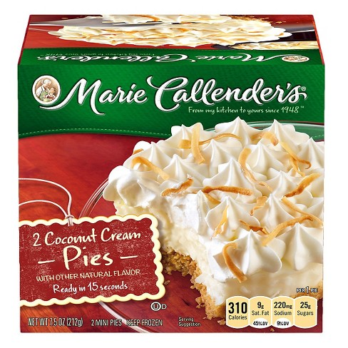 Marie Callender's Coconut Cream Frozen Mini Pies - 2ct - image 1 of 1