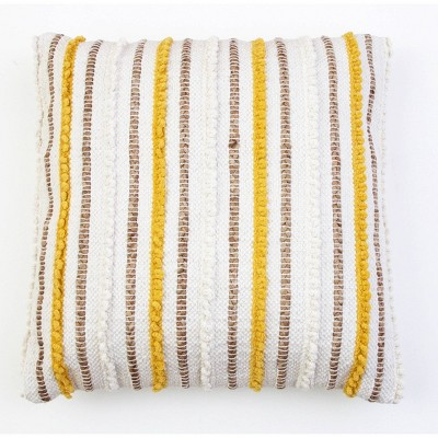 KLOVEN Cotton Pillow Yellow - Décor Therapy