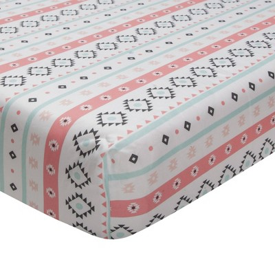 Lambs & Ivy Little Spirit Cotton Fitted Crib Sheet