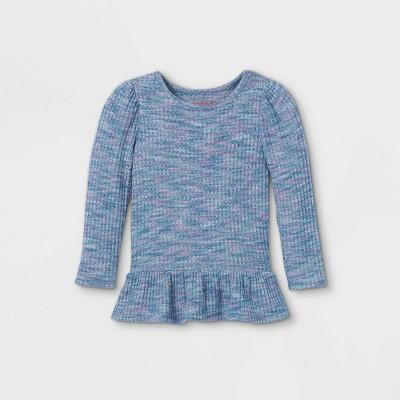 Toddler Girls' Textured Cozy Waffle Long Sleeve T-Shirt - Cat & Jack™