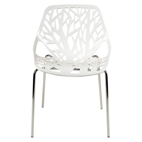 Bella Dining Chair - White and Chrome (Set of 2) - Aeon - image 1 of 3