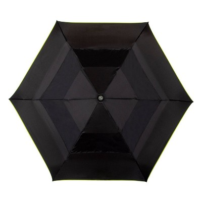 Cirra by ShedRain Women's Air Vent Auto Open Close Compact Umbrella - Black/Neon Green