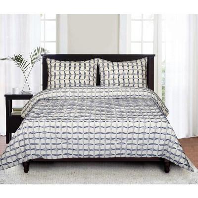 LILY NY Cotton Clip Cut Comforter 3 PC Set