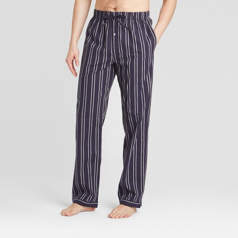 Men's Striped Poplin Pajama Pants - Goodfellow & Co™ - image 1 of 2