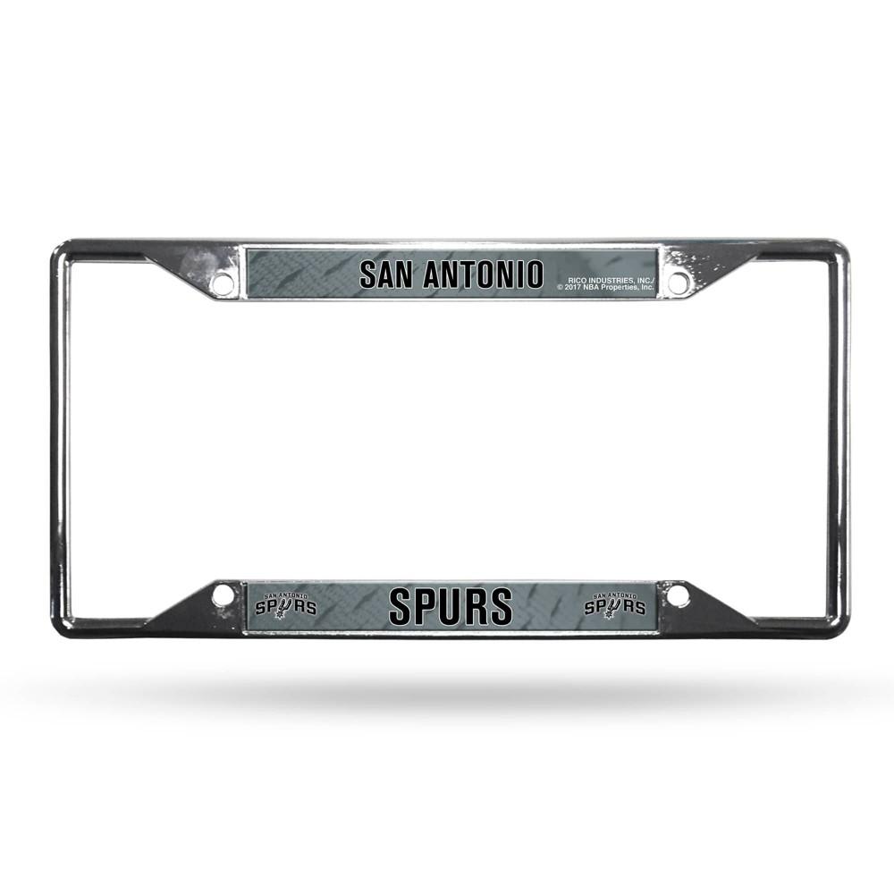 Nba San Antonio Spurs View Chrome License Plate Frame