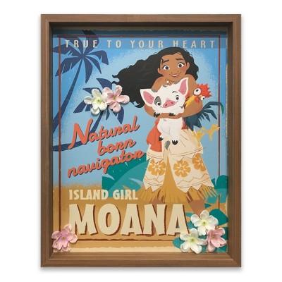 "Moana 14""x18"" Island Girl Wall Decor"