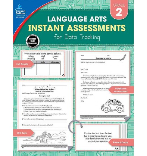 Instant Assessments for Data Tracking Language Arts Grade 2 (Paperback) (Hope Spencer) - image 1 of 1