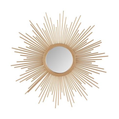 14 5 Dia Fiore Sunburst Round, Round Sunburst Mirror