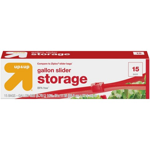 Slider Gallon Storage - 15ct - Up&Up™ - image 1 of 3