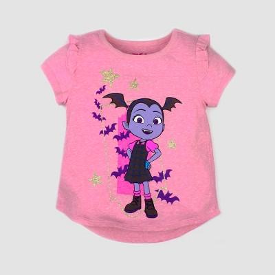 Toddler Girls' Disney Vampirina Short Sleeve T-Shirt - Pink 2T