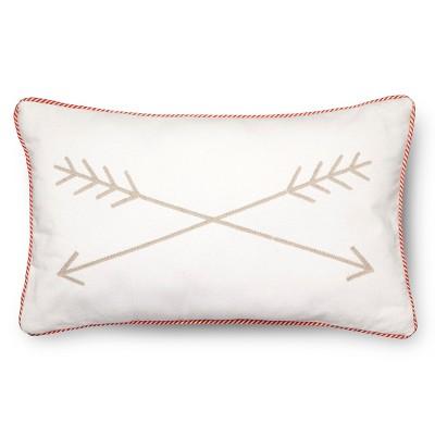 Arrow Throw Pillow - 20 x12  - Tan - Pillowfort™