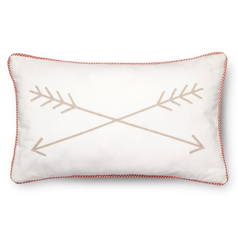 "Arrow Throw Pillow - 20""x12"" - Tan - Pillowfort™ - image 1 of 2"