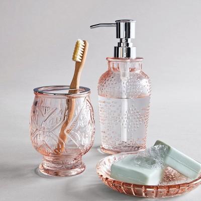 Bathroom Accessories.Glass Soap Lotion Dispenser Blush Opalhouse