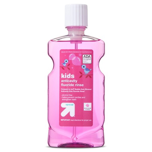 Anticavity Kid's Fluoride Rinse - Bubble Gum Flavor - 16.9oz - Up&Up™ (Compare to Act Bubble Gum Blowout Anticavity Kids Fluoride Rinse) - image 1 of 1